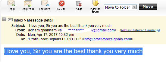 Profit Forex Signals - Terms of service